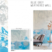 Blue Grey Weathered Wall